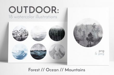 OUTDOOR: watercolor collection
