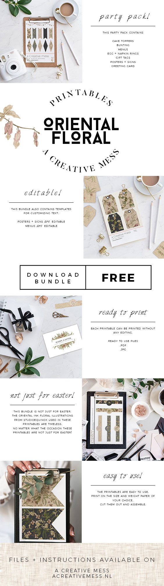 Easter + Spring Printable Bundle - Free