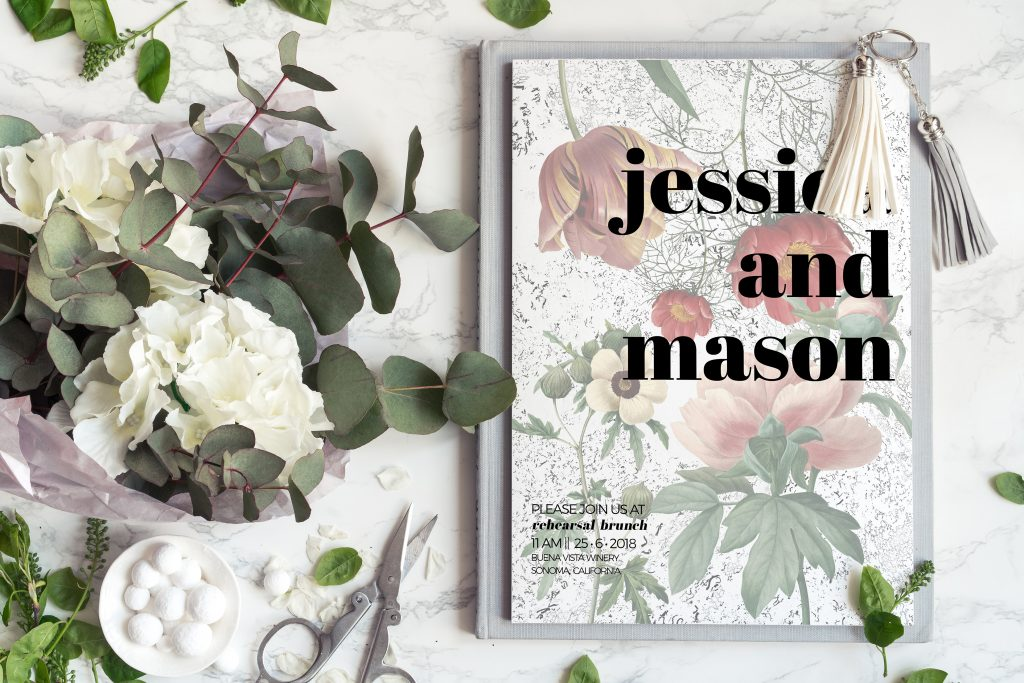 FREE Editable Vintage Floral Card Templates (set of 16)