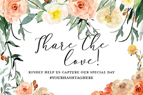 share the love wedding printable freebie