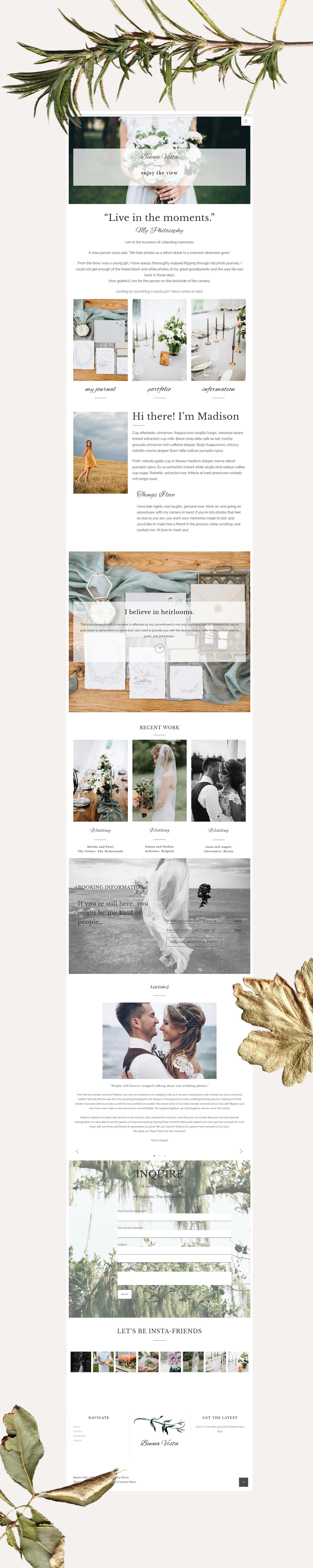 Buena Vista - A Fine Art Photography Website
