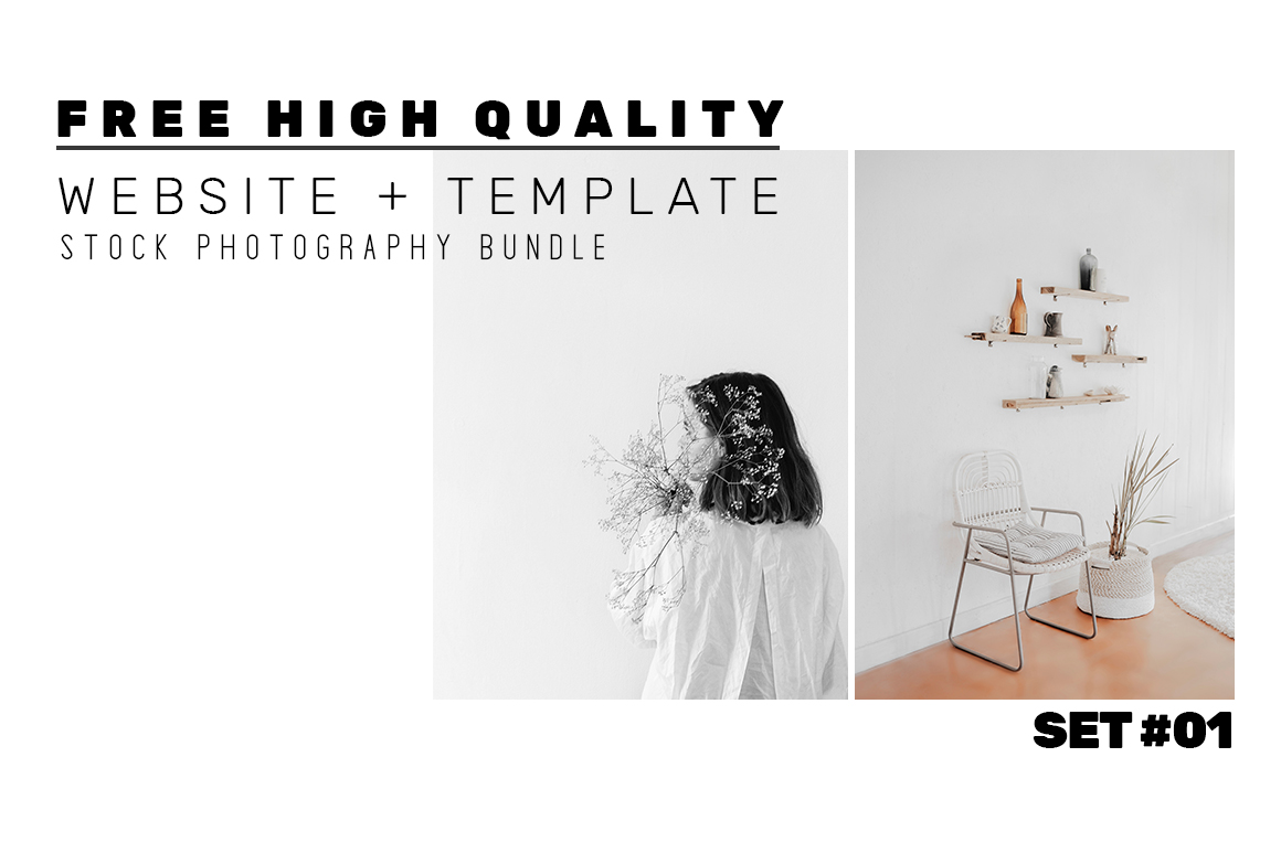 FREE high quality stock photography lifestyle package for website demos