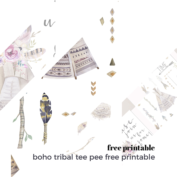 Boho tribal tee pee free printable A CREATIVE MESS [.NL] #freebies #freeprintables #caketopper #boho #bohoprintables #bohoparty #cakebunting #partyinvite #invitation #childrensprintable #kidsparty #birthdayinvites #birthdayinvitations #freepartyprintables #freepartydecorations #bunting