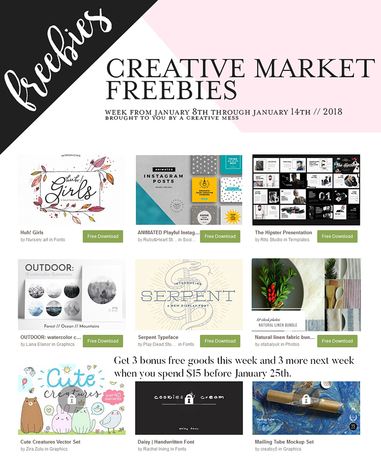 creative market freebies