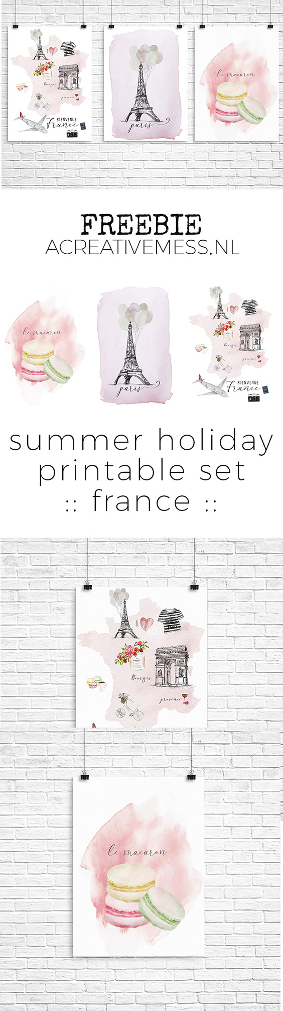 summer holiday printable set :: france ::