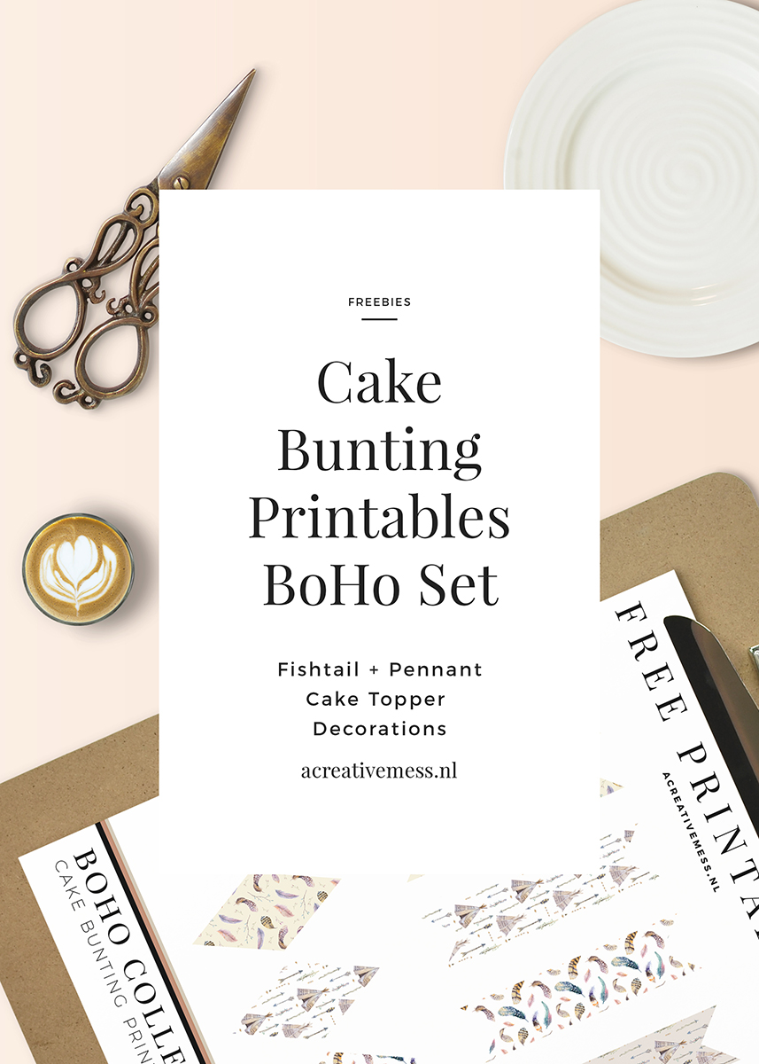 BOHO CAKE BUNTING SET FREE PRINTABLE A CREATIVE MESS [.NL]